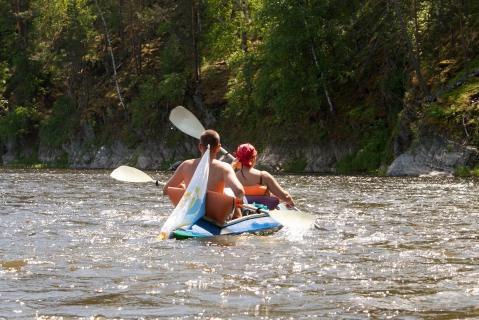 Сплав на байдарках по реке Агидель