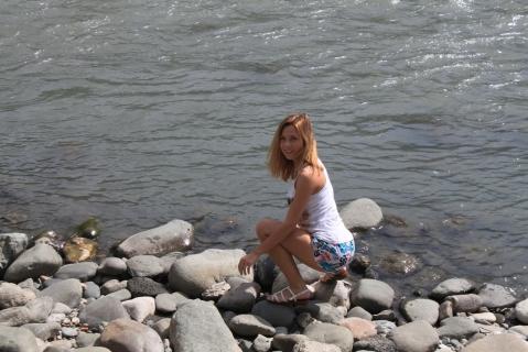 Берег горной реки