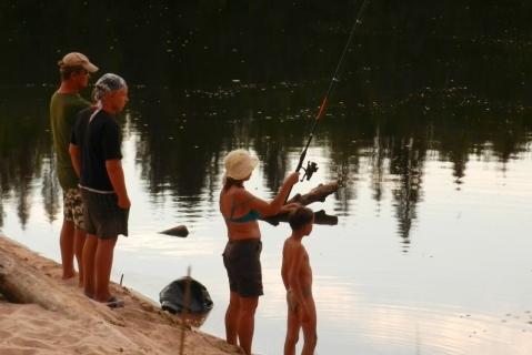 Ловим рыбу на Лухе