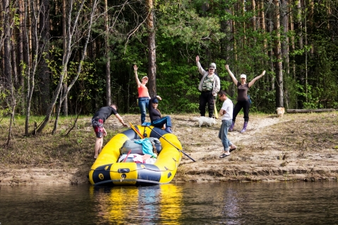 Рафтинг на реке Лух