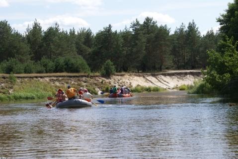 Рафтинг по реке Сережа